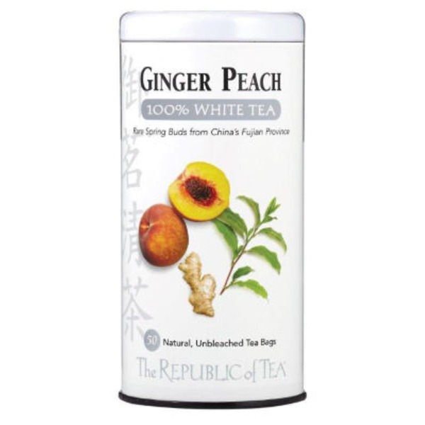 The Republic of Tea Ginger Peach 100% White Tea Bags