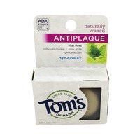 Toms of Maine Flat Floss, Antiplaque, Naturally Waxed, Spearmint