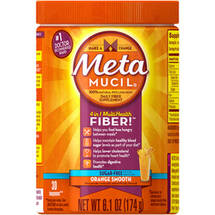 Metamucil Sugar Free Psyllium Fiber Supplement Orange Smooth Texture Powder (Choose your Size)