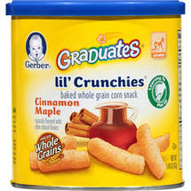 Gerber Graduates Lil Crunchies Cinnamon Maple Sweet