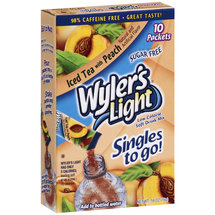 Wyler's Light Singles To Go Iced Tea With Peach Soft Drink Mix