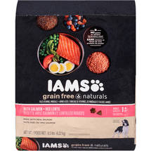 Iams Grain-Free Naturals Salmon and Red Lentils Dry Dog Food
