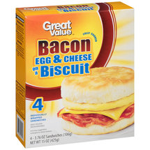 Great Value Bacon Egg & Cheese on a Biscuit