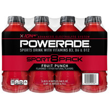 Powerade Fruit Punch Liquid Hydration + Energy Sports Drink 8 Ct/160 Fl Oz