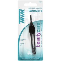 Trim Beautycare Wide Grip Slant Tip 04274 Tweezers