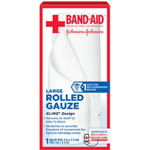 Band-Aid Brand of First Aid Products Rolled Gauze 4 Inches by 2.5 Yards