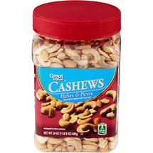 Great Value Cashew Halves & Pieces