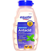 Equate Regular Strength Peppermint Antacid/Calcium Tablets