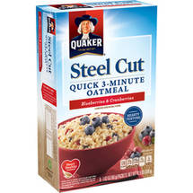Quaker Steel Cut Blueberries & Cranberries Quick 3-Minute Oatmeal