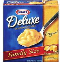 Kraft Deluxe Original Family Size Macaroni & Cheese Dinner