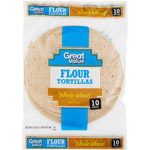 Great Value Whole Wheat 8 Flour Tortillas