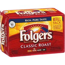 Folgers Classic Roast Ground Medium Coffee Refill Pack