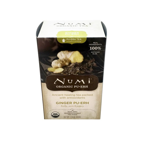 Numi Organic Ginger Pu-erh Tea Box