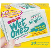 Wet Ones Antibacterial Citrus Scent Singles