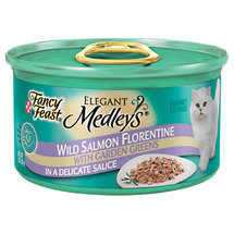 Fancy Feast Elegant Medleys Wild Salmon Florentine In A Delicate Sauce w/Garden Greens Cat Food
