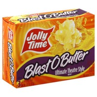 Jolly Time Blast O Butter Ultimate Theatre Style 3.5 Oz Bags Microwave Pop Corn