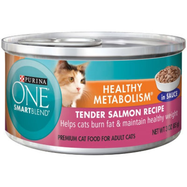 Purina One Cat Wet Ideal Weight Tender Salmon Recipe in Sauce Adult Cat Food