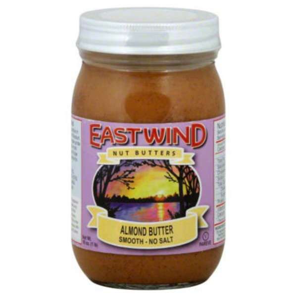 East Wind Almond Butter, Smooth, No Salt
