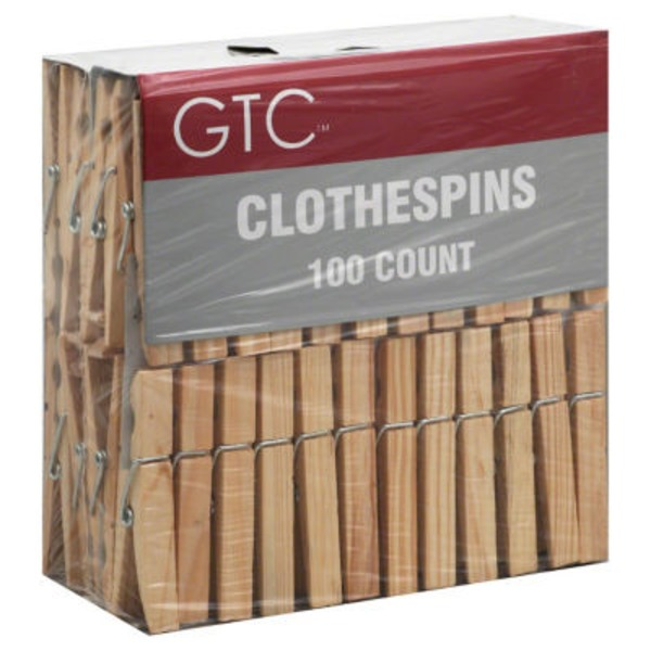 GTC Wooden Clothes Pins
