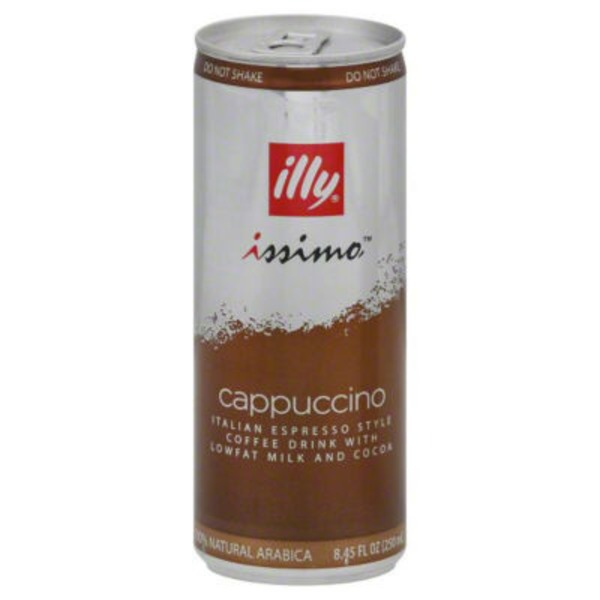Illy Issimo Cappucino with Lowfat Milk & Coffee Iced Coffee Drink