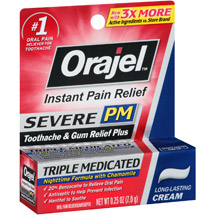 Orajel PM Maximum Strength Oral Pain Reliever Cream