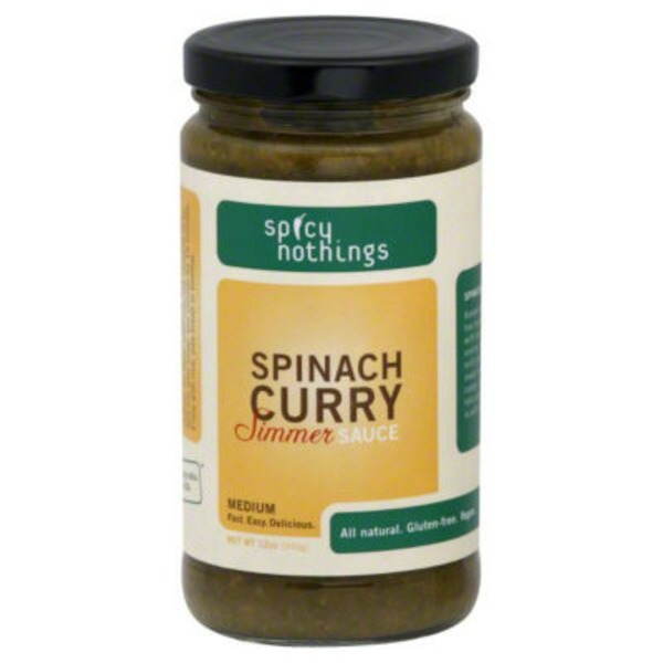 Spicy Nothings Medium Spinach Curry Simmer Sauce