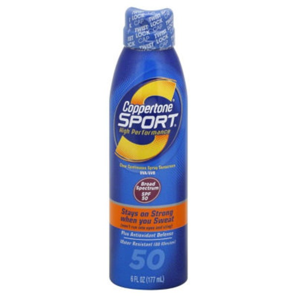 Coppertone Sport High Performance AccuSpray Broad Spectrum SPF 50 Spray Sunscreen