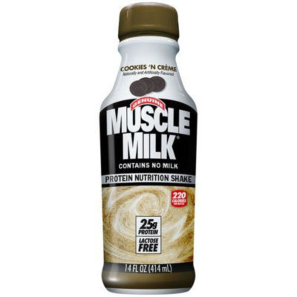 Muscle Milk Genuine Cookies 'n Creme Non Dairy Protein Shake