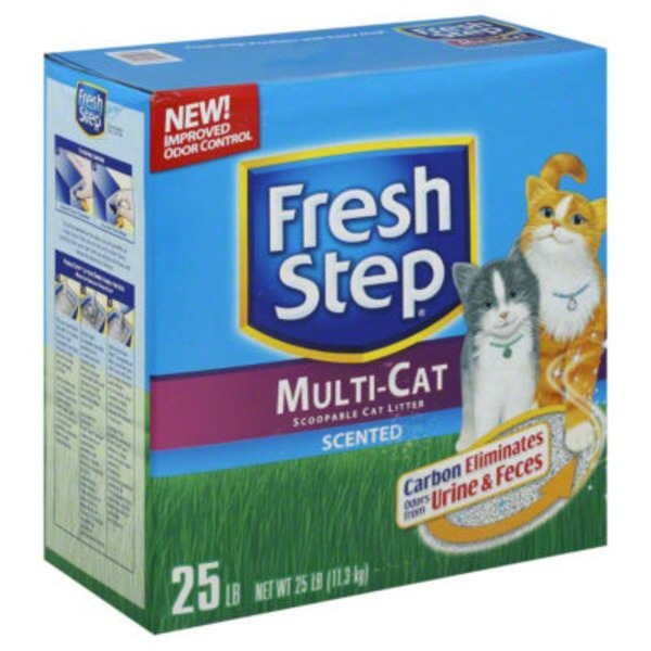 Fresh Step Multi-Cat Scented Scoopable Cat Litter