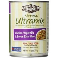 Castor & Pollux Natural Ultramix Chicken, Vegetable & Brown Rice Stew Adult Dog Food