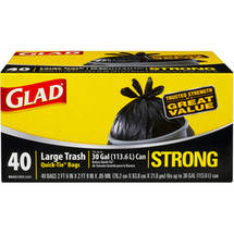 Glad Strong Quick-Tie Large Trash Bags