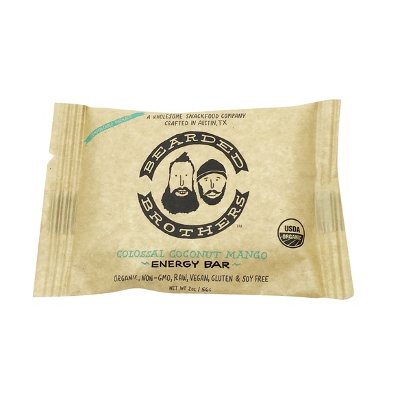 Bearded Brothers Organic Coconut Mango Energy Bar
