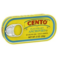 Cento Flat Fillet Anchovies in Olive Oil with Salt Added