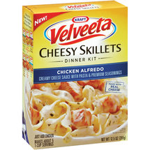 Kraft Dinners Chicken Alfredo Velveeta Cheesy Skillets