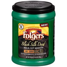 Folgers Black Silk Decaf Dark Decaffeinated Ground Coffee