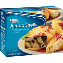 Great Value Jumbo Shells Pasta Enriched Macaroni Product