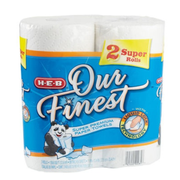 H-E-B Our Finest Super Premium Paper Towel Rolls