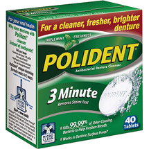 Polident 3 Minute Tablets Antibacterial Denture Cleaner