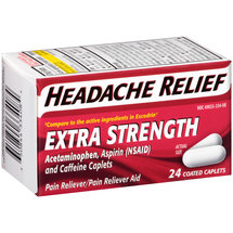 Headache Relief Extra Strength Acetaminophen Pain Reliever/Pain Reliever Aid Coated Caplets