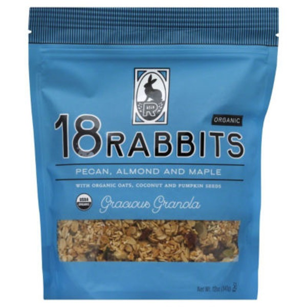 18 Rabbits Organic Pecan, Almond and Maple Gracious Granola