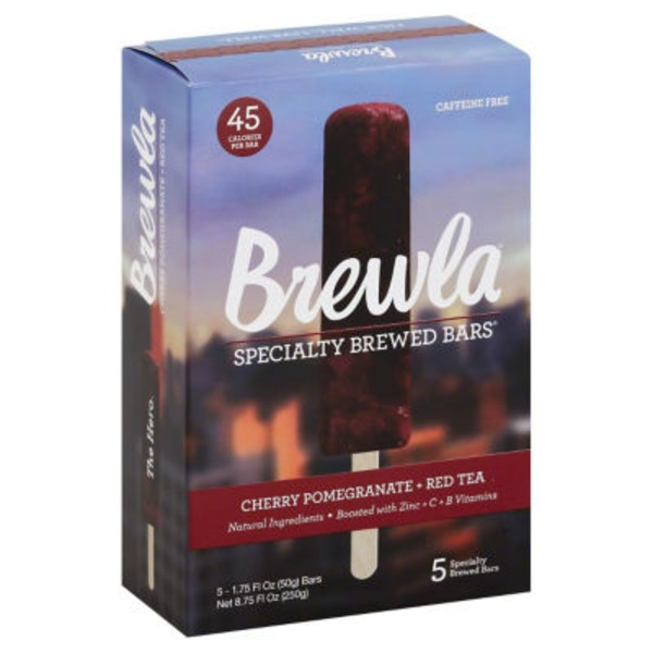 Brewla Specialty Cherry Pomegranate + Red Tea Brewed Bars