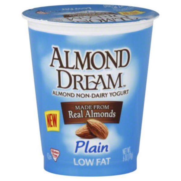 Almond Dream Almond Non-Dairy Yogurt Made From Real Almonds Plain Low Fat