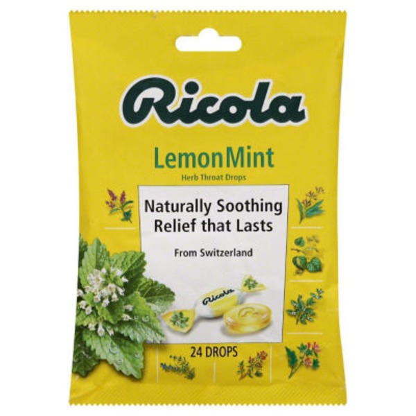 Ricola Lemon Mint Herb Throat Drops