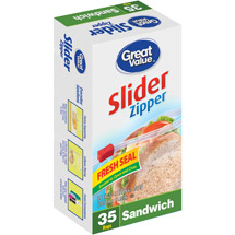Great Value Slider Zipper Sandwich Bags