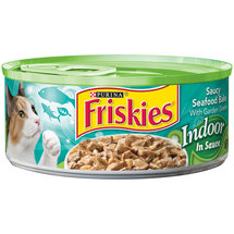 Purina Friskies Indoor Saucy Seafood Bake Cat Food in Sauce