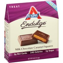 Atkins Endulge Milk Chocolate Caramel Squares Treat