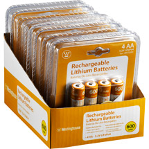 Westinghouse 4pc Rechargeable Battery Set