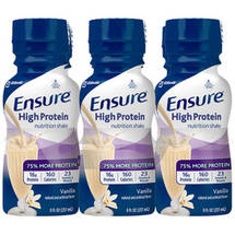 Ensure Active High Protein Vanilla Nutrition Shakes