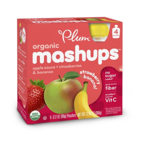 Plum Organics Mashups Strawberry Banana Apple Sauce