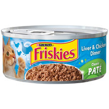 Purina Friskies Classic Pate Liver & Chicken Dinner Cat Food 5.